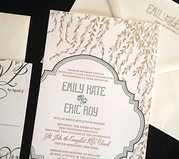 Emily and Eric | Letterpress wedding invitation