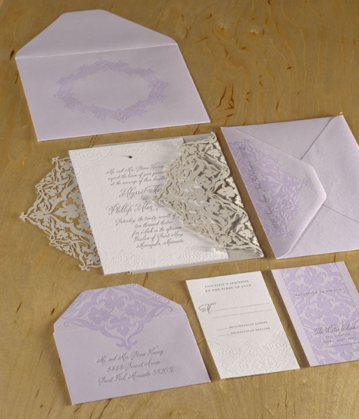 Spark Letterpress Wedding Invitation
