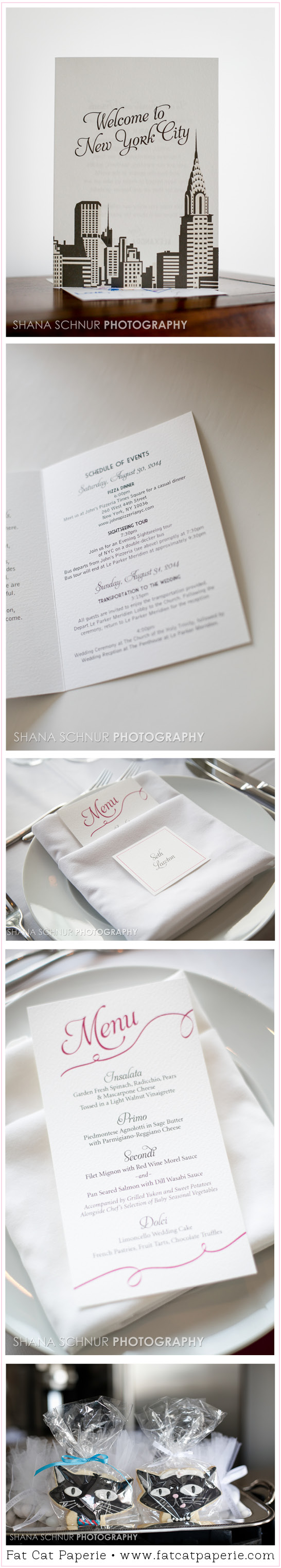 Real Wedding: Alexandra and Craig, Day-of Stationery and Accessories