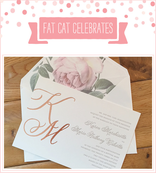 Celebrating July | Fat Cat Congratulates their July Brides and Grooms