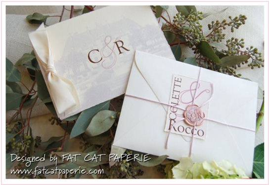Oheka Castle is in the Spotlight | Colette and Rocco | Wedding Invitation with Wax Seal