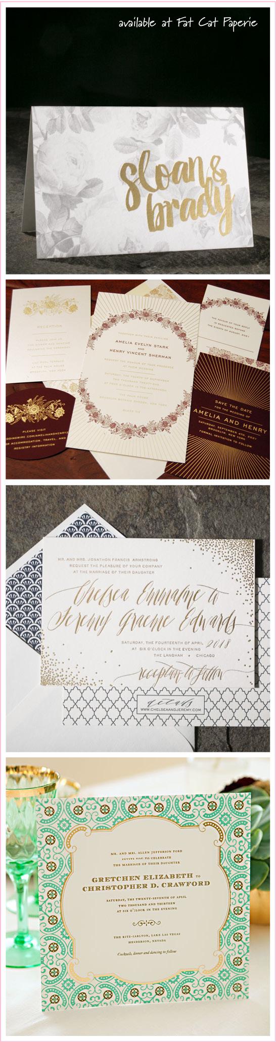 Trending | Wedding Invitations | Smock, Dauphine, Designer's Fine Press