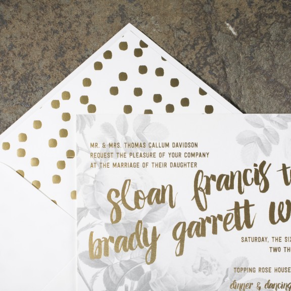 Trending: Bold Liners | Smock Bloomsbury | NEW Gold Foil Confetti Liner
