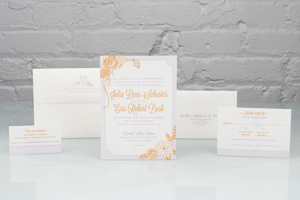 Fall Promotion | Spark, Carola | Letterpress Floral Invitation