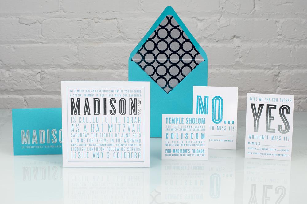 Spark, Madison | Mitzvah Foil Invitation