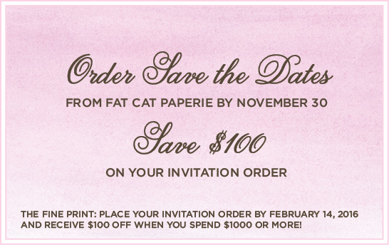 Save the Date Promotion | Fat Cat Paperie