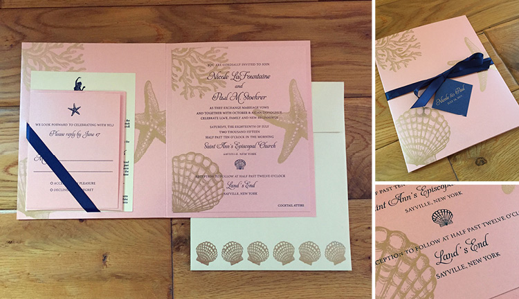 Nicole and Paul, Beach Pocket Invitation