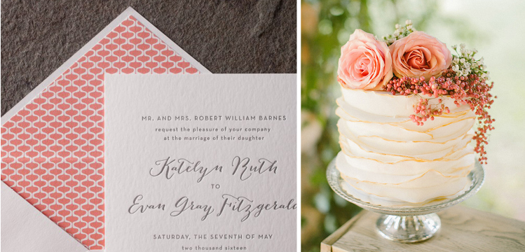 Happy Sweet 2016 | Coral Cake and Wedding Invitation