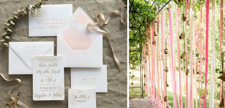 Happy Sweet 2016 | Coral and Peach Ribbons and Invitations
