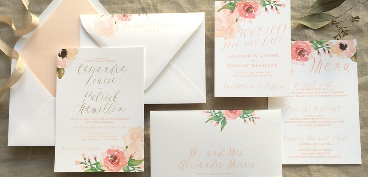 Happy Sweet 2016 | Coral and Peach Invitations