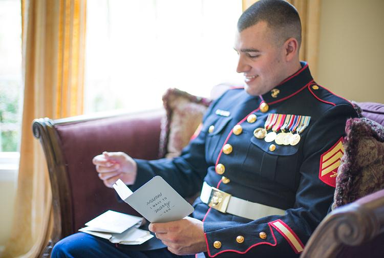 Rustic Wedding | Groom | Military
