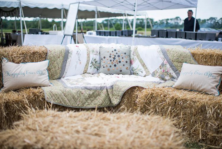 Barn Wedding | Seating, Hay Bales