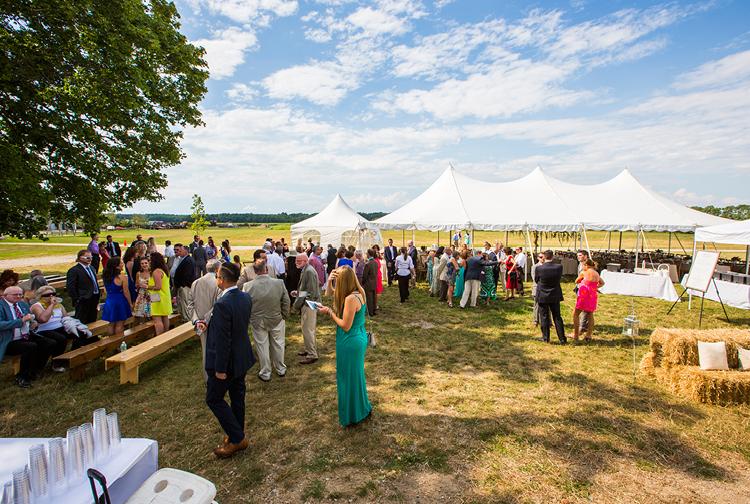 Barn Wedding | Tent Outside
