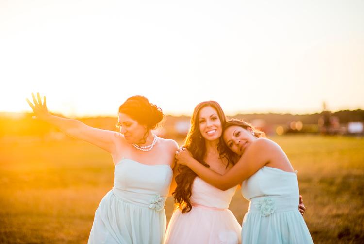 Deanna and Jason | Barn Wedding | Sunset Bridesmaids