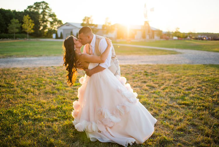 Deanna and Jason | Barn Wedding | Sunset