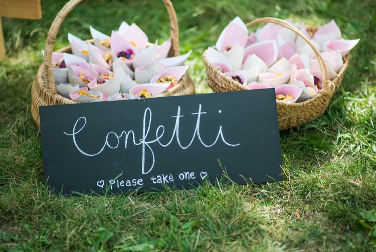 Barn Wedding | Outdoor Ceremony | Confetti