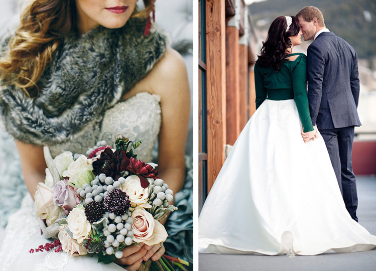 Winter Weddings | Brides in Fur and Sweaters