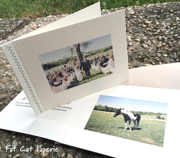 Katie Booklet by Fat Cat Paperie | Thank you note booklet with wedding photos