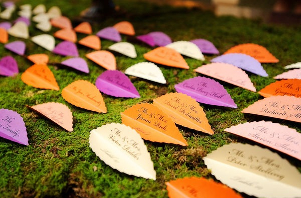Leaf Escort Cards | Fall Wedding