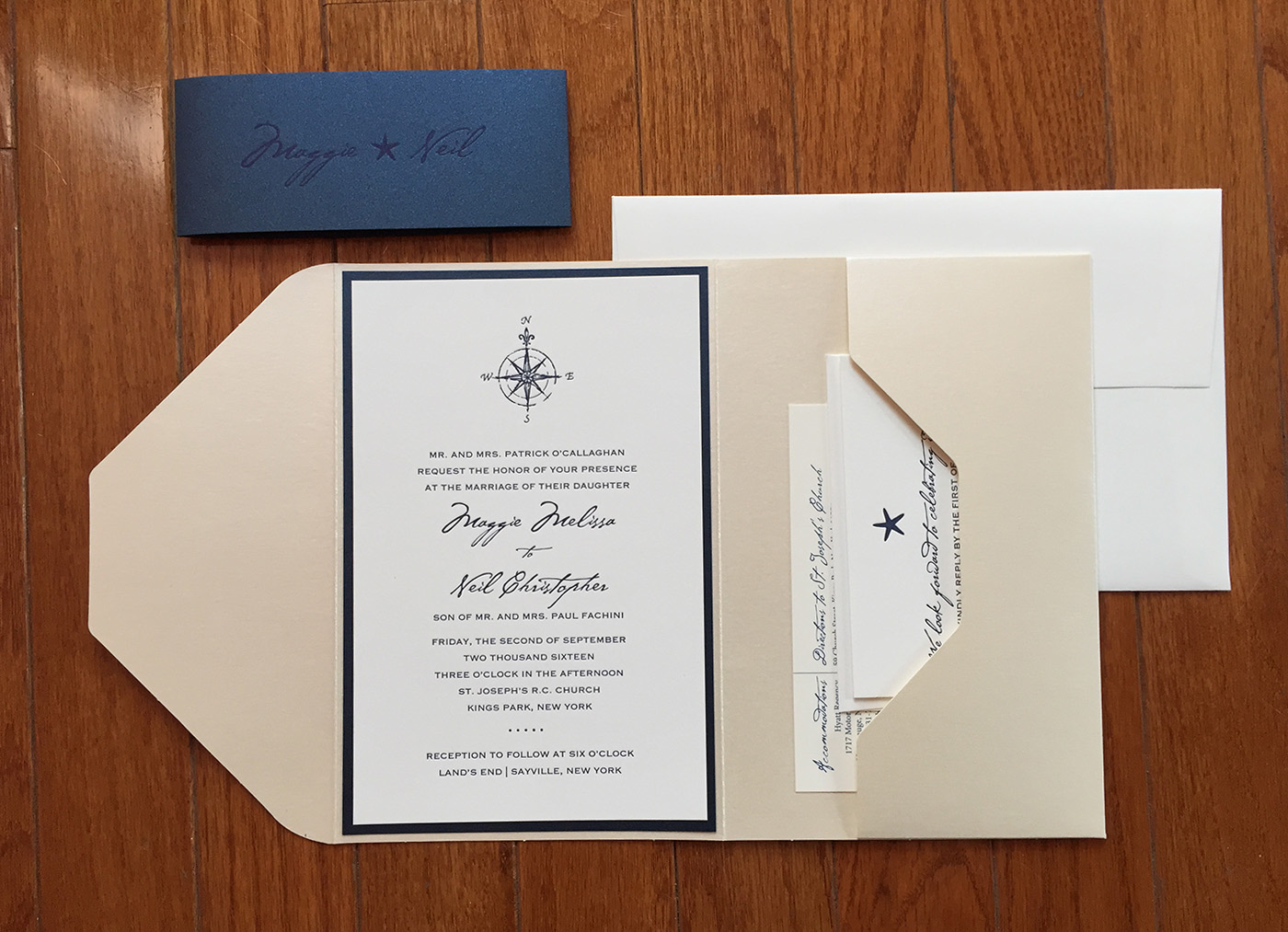 Maggie + Neil | Pocket Invitation with Bellyband