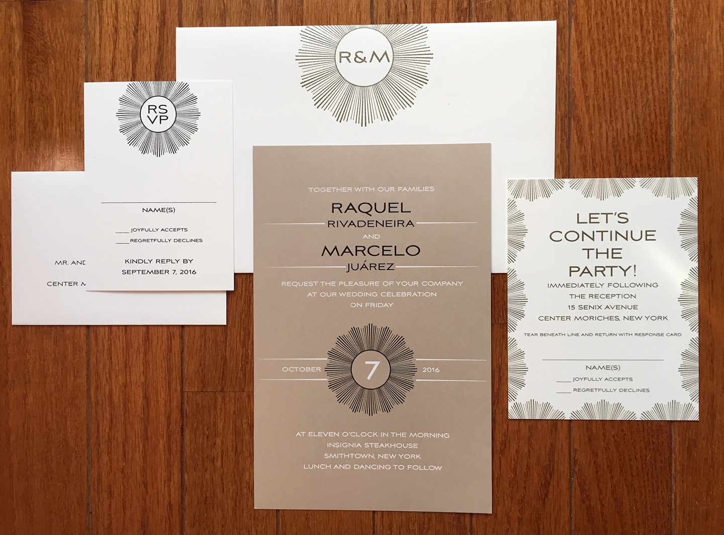 Raquel + Marcel | Foil and Thermography Wedding Invitation