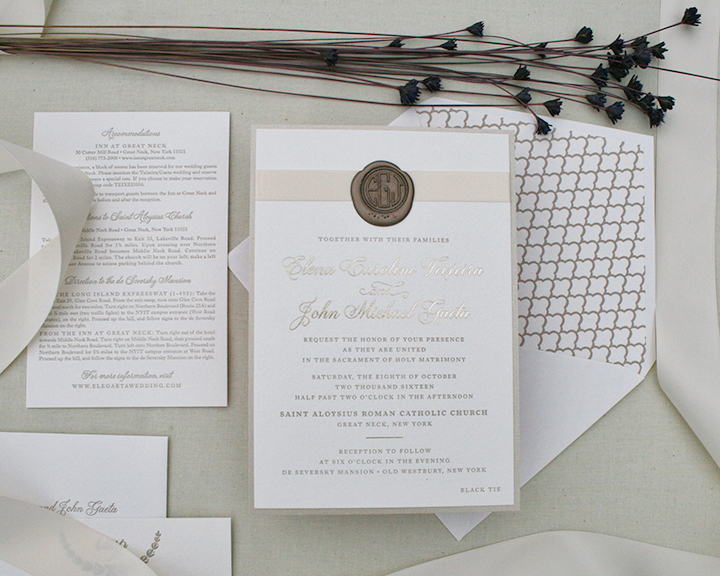 Elena+John, Wax Seal Invitation, 2016 favorites