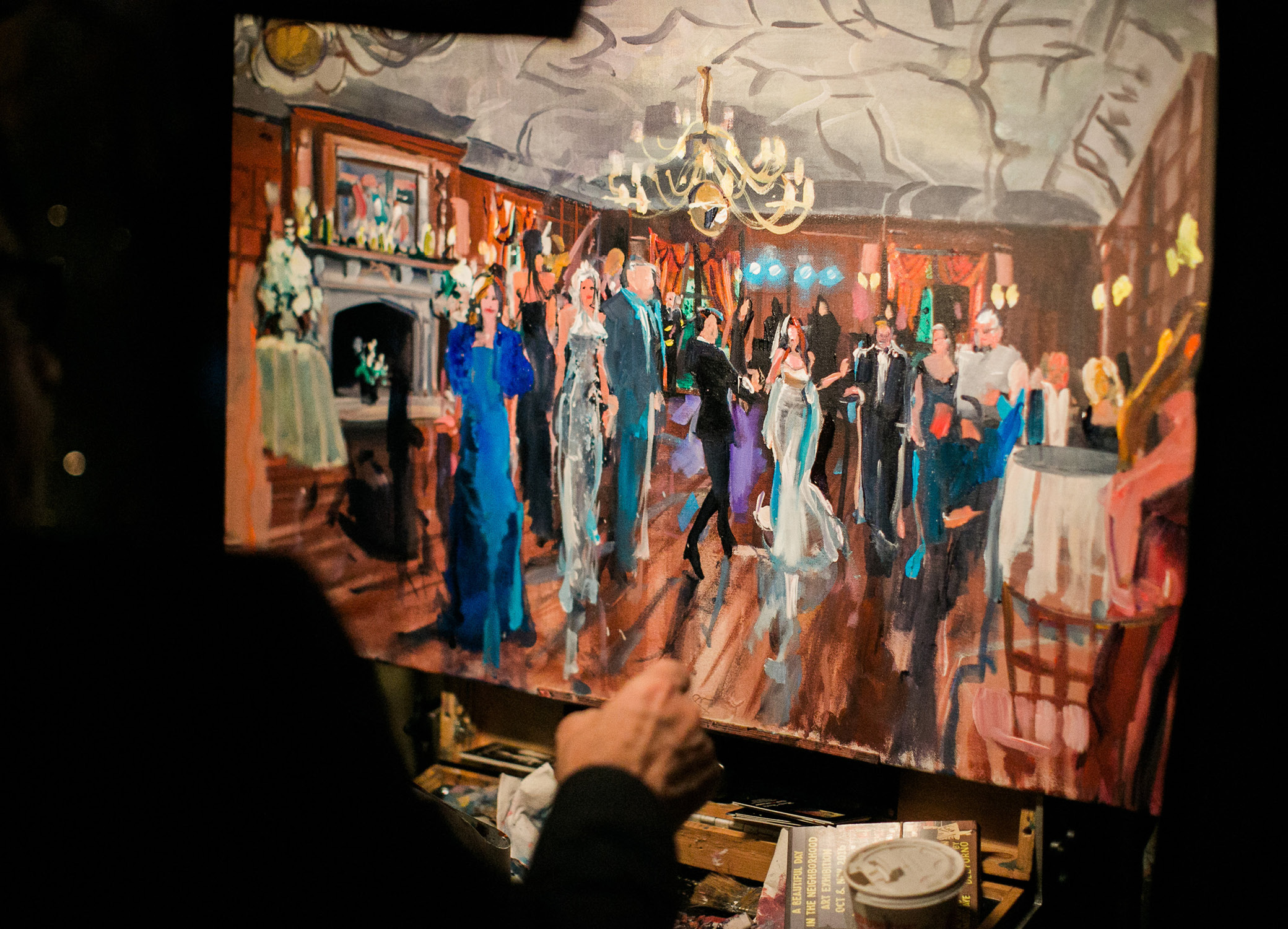 Painting of Wedding Reception