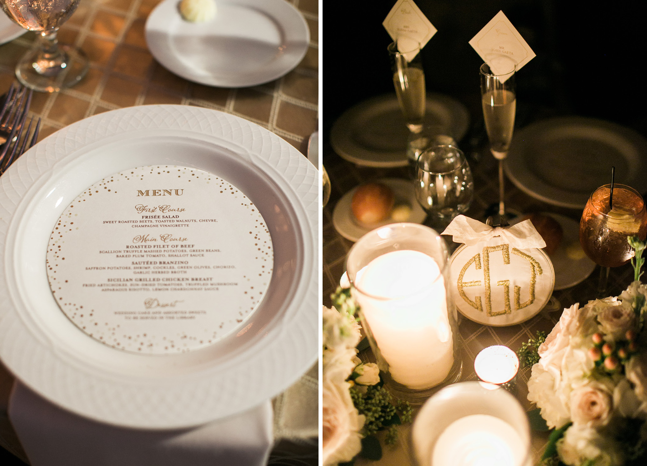 Wedding Menus and Table Numbers