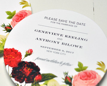 BTElements Genevieve, floral save the date