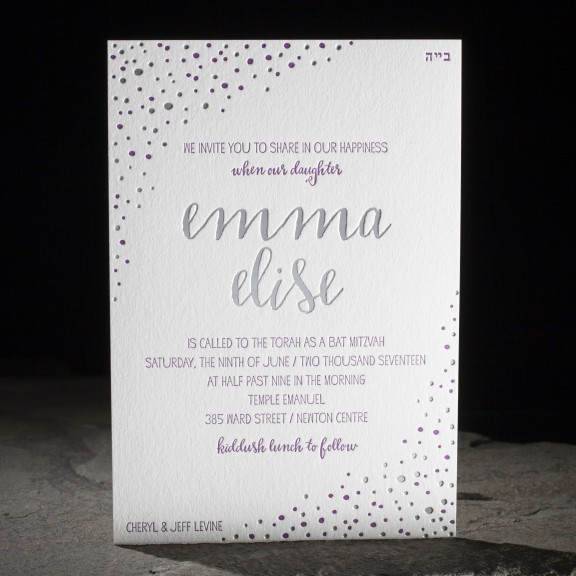 Dots by Smock, festive confetti invitation