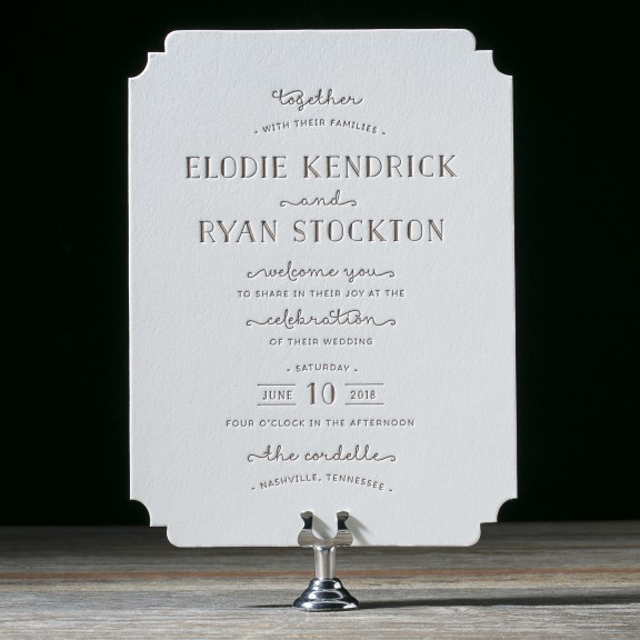 Elodie by Bella Figura, whimsical typography invitation