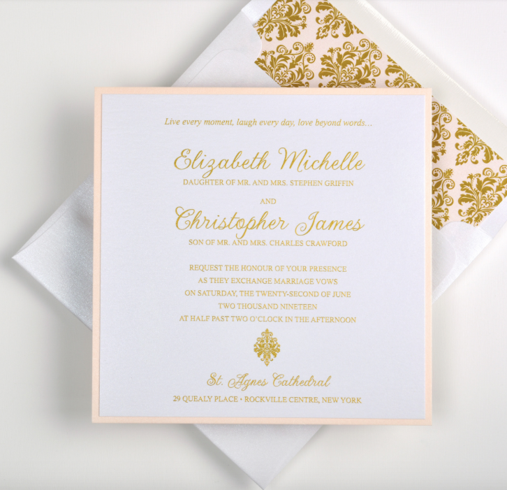 elizabeth by lemon tree fat cat paperie custom wedding invitations