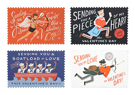 Rifle Paper Vintage Postcard Valentines