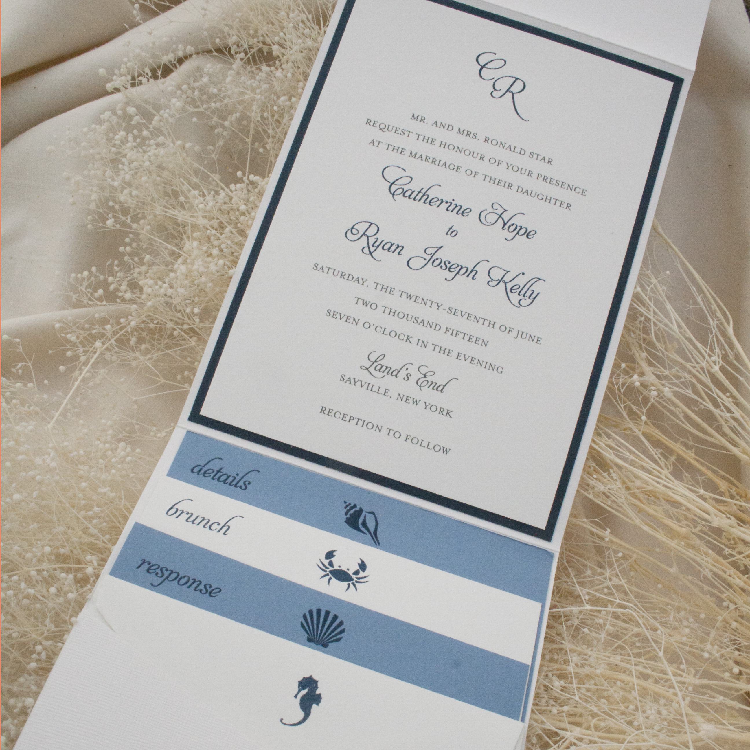 pocket and booklet invitations