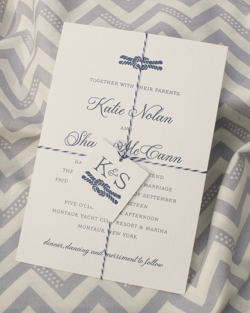 Katie + Shaun - Fat Cat Paperie | Custom Wedding Invitations