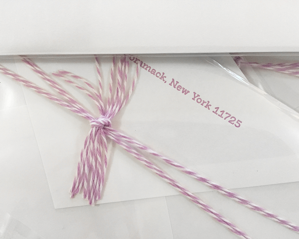 Letterpress Envelope with Twine Knot Detail