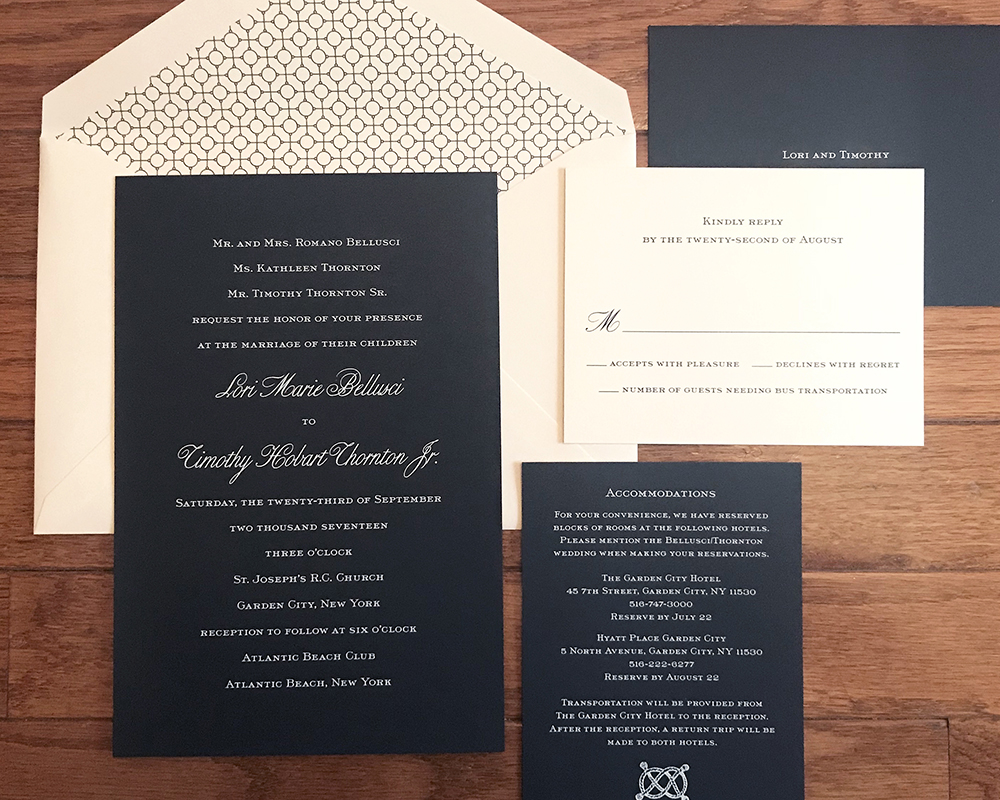 nautical wedding invitation, navy and white color palette, engraved invitation
