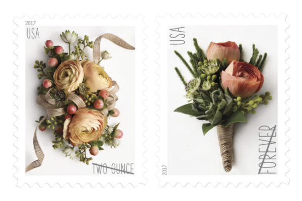 Bouquet and Boutonnière postage stamps