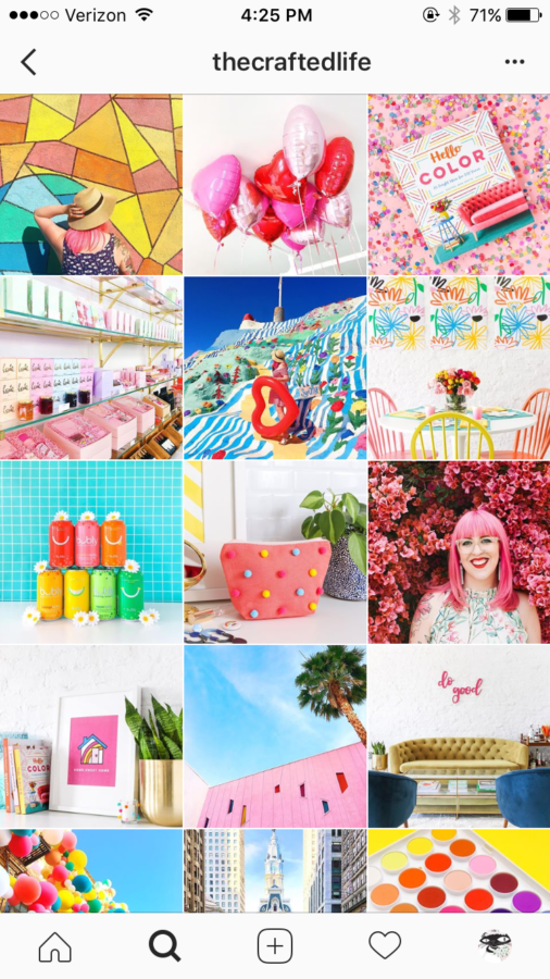 thecraftedlife Instagram Feed, Vibrant Colors, Curated tiles of colorful inspiration