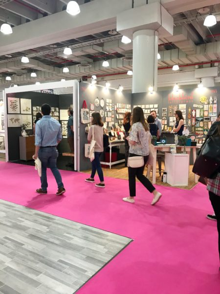 National Stationery Show 2018, pink floors, Javits Center event