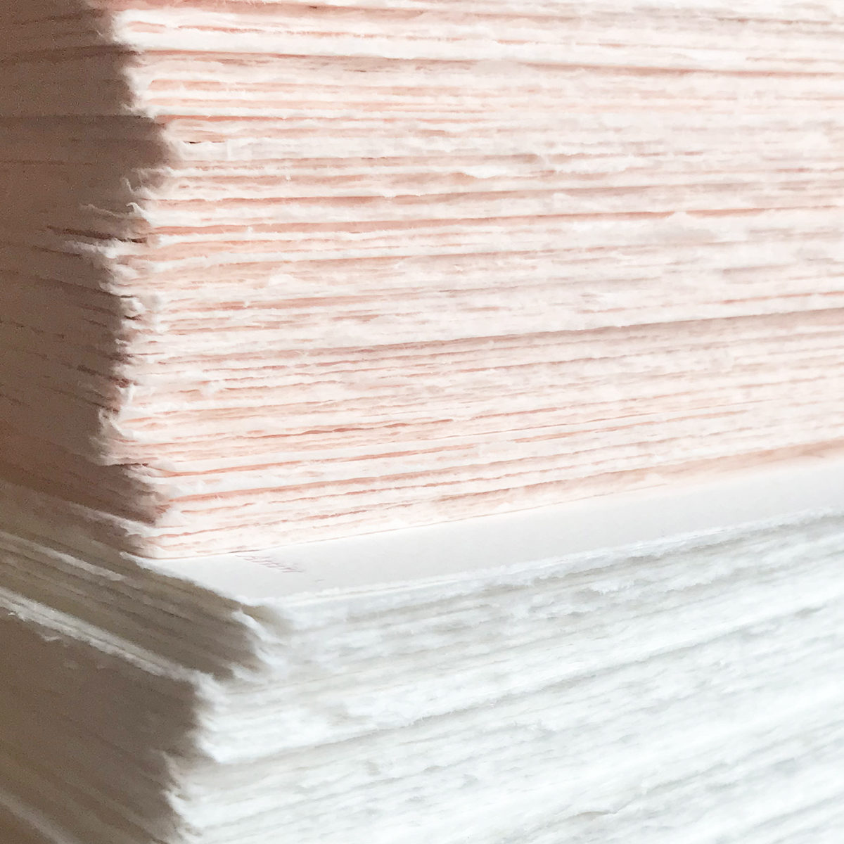 Blush Wedding Invitation, Blush and White Hand Torn Paper